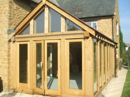 Glazed French Doors in Direct Glazing Including Gable